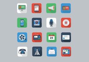 Flat Communication Icons vector