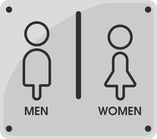 Pictogrammen voor mannen en vrouwen toilet Dat ziet er eenvoudig en modern uit. Illustratie Vector EPS10.