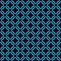 Naadloze geometrische lijnen ornament patroon, lineaire patroon met dunne elegante blauwe kleur sier behang. vector