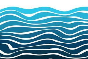 Gebogen lijnachtergrond met mooie watergolven die modern kijken. vector