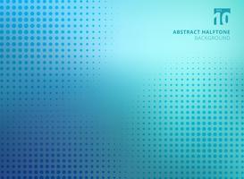 Abstracte blauwe halftone textuur op onscherpe achtergrond.