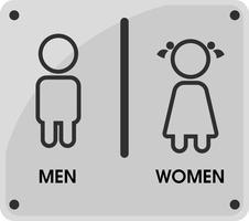 Pictogrammen voor mannen en vrouwen toilet Dat ziet er eenvoudig en modern uit. Vector illustratie.