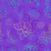 Naadloos patroon met succulents. Regenboog. Graphics. Waterverf. vector