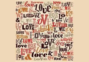 Vintage Liefde Achtergrond Vector
