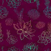 Naadloos patroon met succulents. Regenboog. Graphics. Waterverf vector