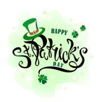 St. Patrick's Day. Handschrift. Kerstkaart. Vector illustratie.