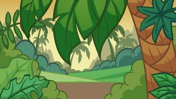 Cartoon Jungle achtergrond vector