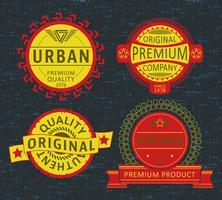 Set van badge, applique, label t-shirts of vrijetijdskleding