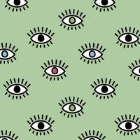 Leuk patroon met ogen vector
