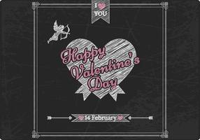 Krijt Getekende Valentijnsdag Vector Achtergrond