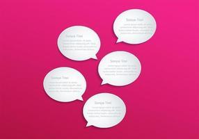 Speech Bubble Vector achtergrond