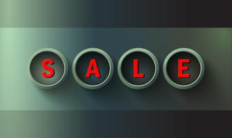 Sjabloon voor spandoek verkoop