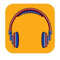 Hoofdtelefoon gratis logo sjabloon