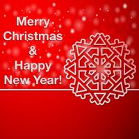 Gelukkig nieuwjaar en Merry Christmas-kaart