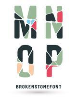 Alfabet gebroken lettertype