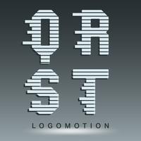 Logo lettertype sjabloon vector