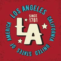 Los Angeles vintage stempel vector