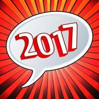 2017 jaar tekstballon