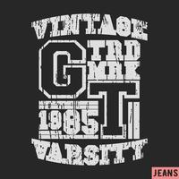 T-shirt printontwerp vector