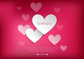 Liefhebbende hart Valentine Vector achtergrond