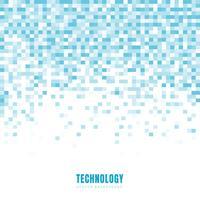 De abstracte geometrische witte en blauwe achtergrond en de textuur van het vierkantenpatroon met exemplaarruimte. Technologie stijl. Mozaïek raster.