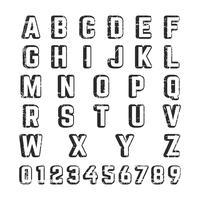 Alfabet lettertype sjabloon vector
