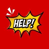 Help komische tekstballon