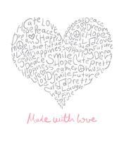 Gemaakt met liefdeontwerp
