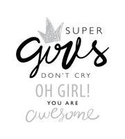 Inspirerend citaat over meisjes vector