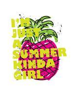 Het conceptontwerp van de de zomervakantie met ananas