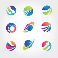 Wereldwijde bedrijfsfinanciering bedrijfslogo sjablooninzameling vector