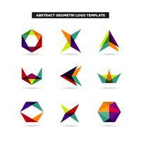abstracte geometrie logo design collectie vector