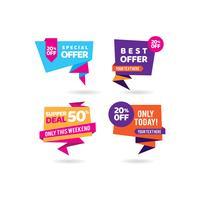 Super Deal Tags Promotie Sjabloon voor zakelijke banners vector