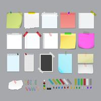 Post It Note set element illustratie vector