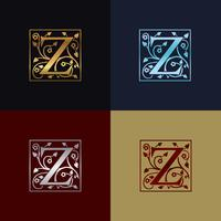 Letter Z decoratieve logo