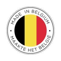 Gemaakt in België vlagpictogram. vector