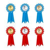 medaille badge rang vector
