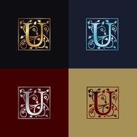 Letter U decoratieve logo