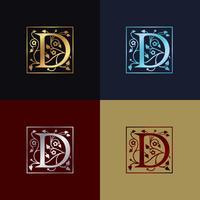 Letter D decoratieve logo