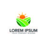 Milieu en groen landschapsarchitectuur logo ontwerpsjabloon concept