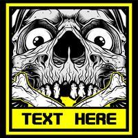 skull.vector hand tekenen, shirt ontwerpen, biker, disk jockey, gentleman, kapper en vele others.isolated en gemakkelijk te bewerken. Vectorillustratie - Vector