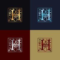 Letter H decoratieve logo vector