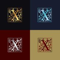 Letter X decoratief logo
