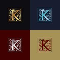 Letter K decoratieve logo
