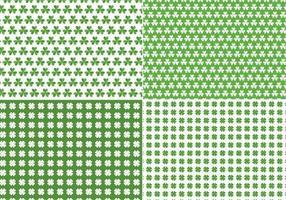 Naadloze klaver Vector patroon Pack