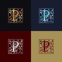 Letter P decoratieve logo