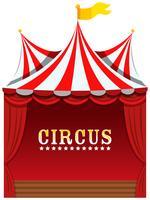 Een leuk circus op witte achtergrond vector