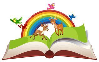 Herten in open boek