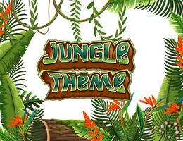 Een jungle themasjabloon vector