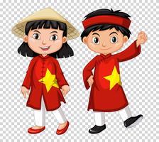 Jongen en meisje uit Vietnam vector